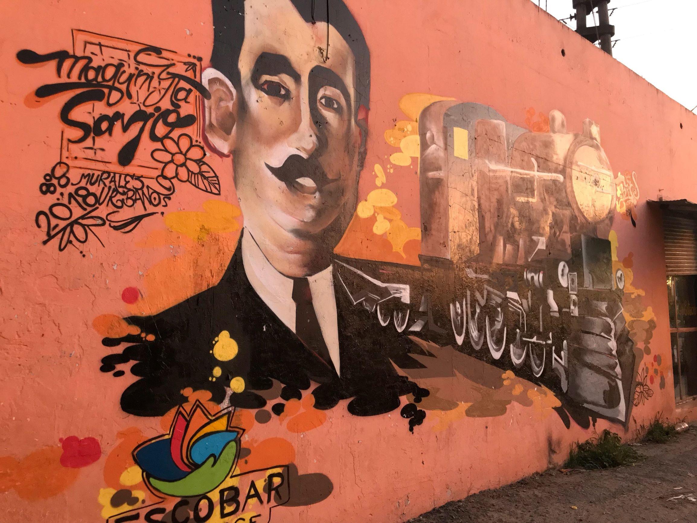 Maquinista Savio mural