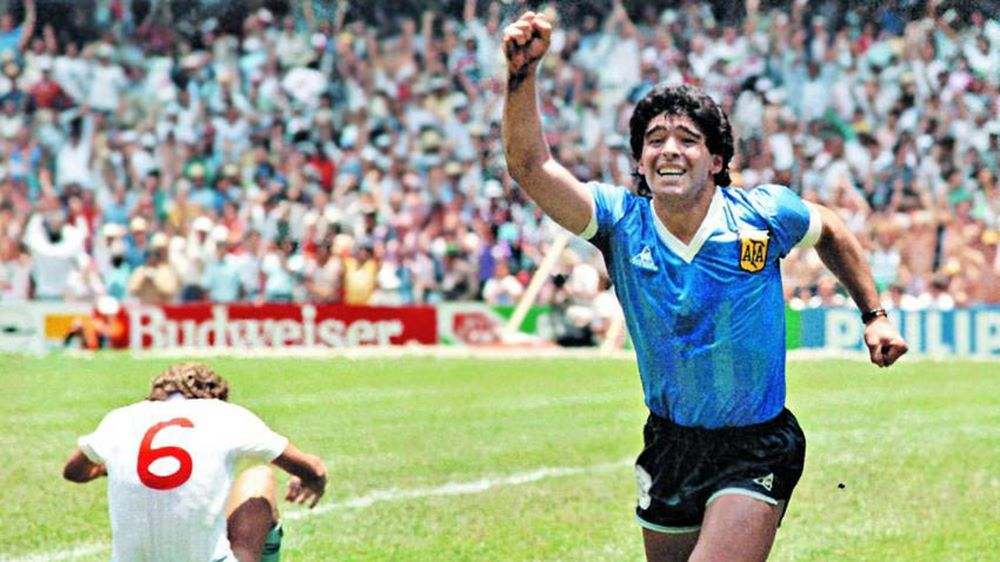 Maradona festejo gol ingleses