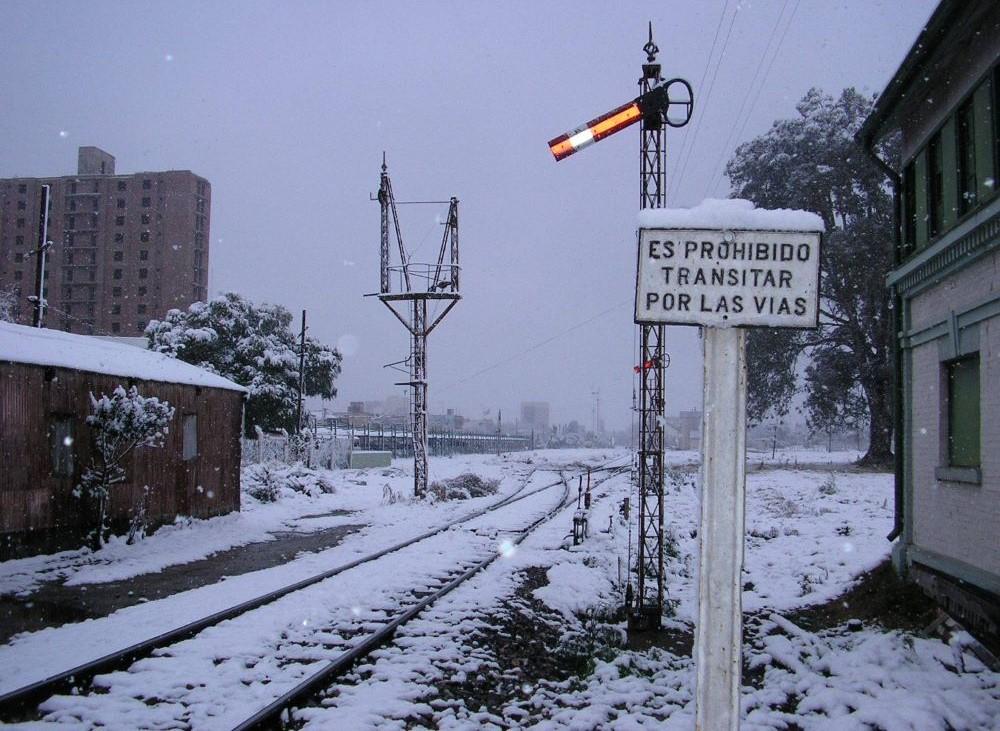 Villa María nevada 2007 vías ferroviarias