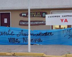 Concejo Deliberante Villa Nueva castraciones cartel